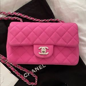 Chanel Rose mini rectangular - pink